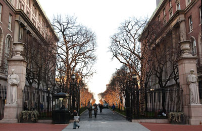 Columbia University is located at 116th Street and Broadway in Upper Manhattan.