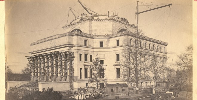Low Library Under Construction in 1896