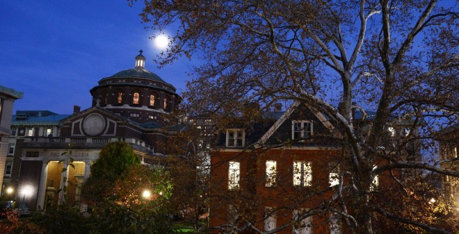 Autumn Moon over Morningside Campus